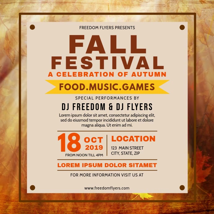 Fall Festival Instagram post