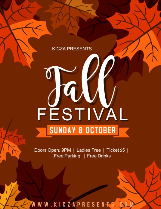 Fall Festival - KiczA Folder (US Letter) template