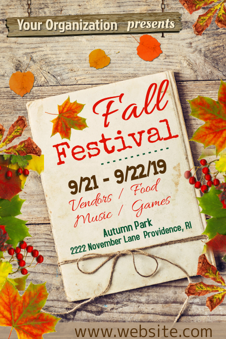 Fall Festival Poster Plakkaat template