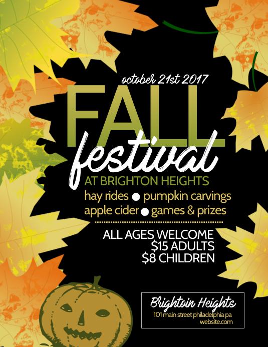 fall festival Ulotka (US Letter) template