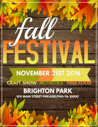 image regarding Free Printable Fall Festival Flyer Templates called Personalize 2,330+ Slide Templates PosterMyWall