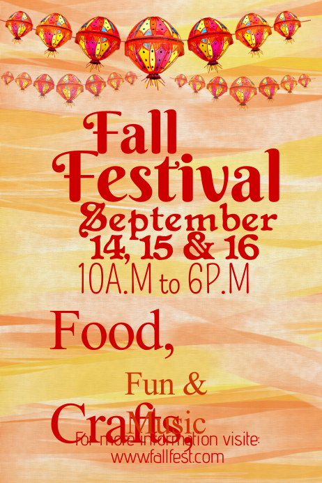 Fall Festival Poster Template | PosterMyWall