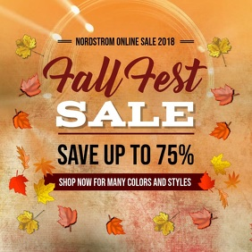 Fall Festival Sale Instagram Video Template