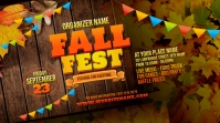 Fall Festival Twitter Post template