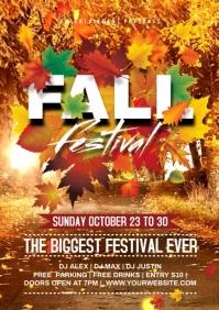 Fall festival video A4 template