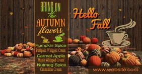 Fall Flavos Facebook Shared Image template