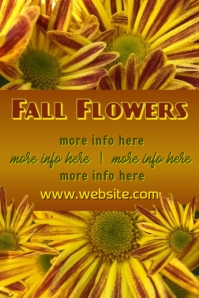 Fall Flowers Ad Poster