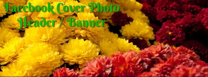 Fall Flowers Facebook Header template