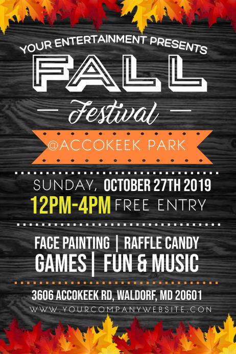Fall Flyer Cartaz template