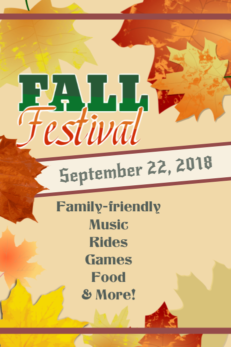Fall Flyer Template Postermywall