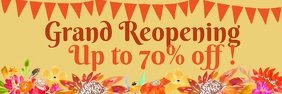 Fall Grand ReOpening Sale 2'x6' Banner template