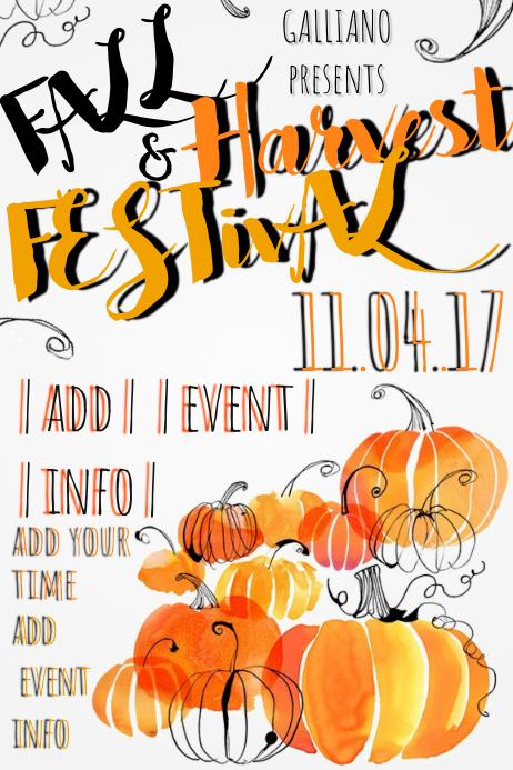 Fall Harvest Festival Autumn Pumpkin October November Fest