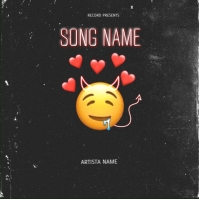 fall in love rap mixtape album cover template