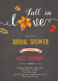 Fall in love shower party invitation