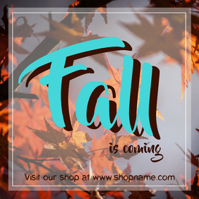 Fall Instagram Shop post