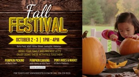 Fall Kid's Event Ad Video Template Tampilan Digital (16:9)