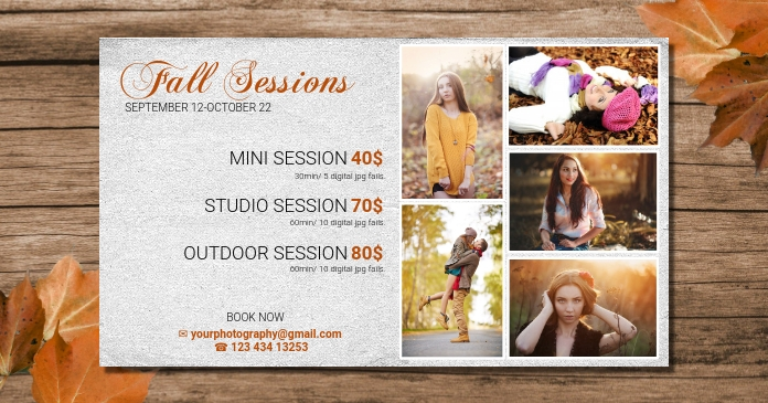 Fall mini Session Template for facebook