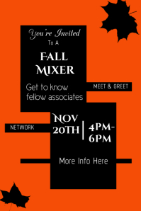 Fall Mixer Poster Template