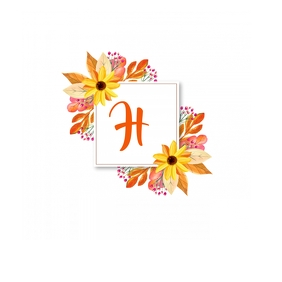 Fall Monogram Logo template