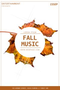 Fall Music Flyer Template