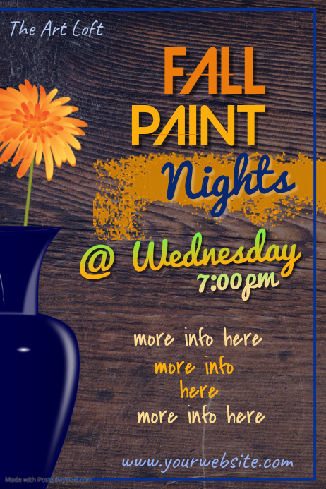 Fall Paint Nights Poster