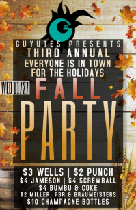 fall party 2019 Tabloid template