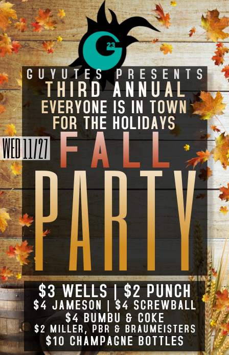 fall party 2019