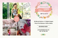 Fall Photography Mini Session Label template