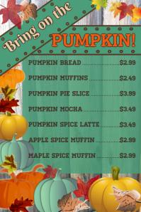 Fall Restaurant Poster
