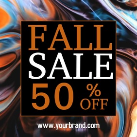 Fall sale, sale, sale video template Vierkant (1:1)