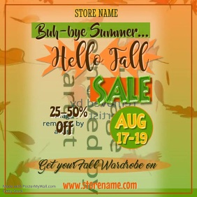 Fall Sale Digital Ad