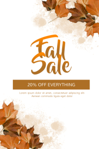 Lovely Fall Sale Flyer Template