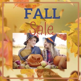 Fall Sale Fun Witches and Leaves Instagram Post template