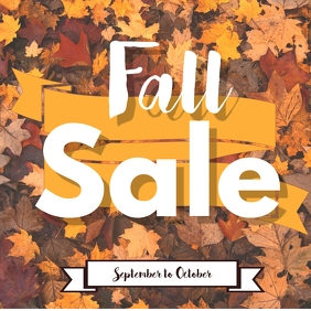 Fall Sale Instagram