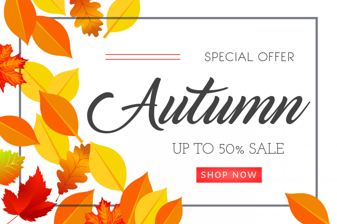 Fall Sale Offer Modern Poster Template