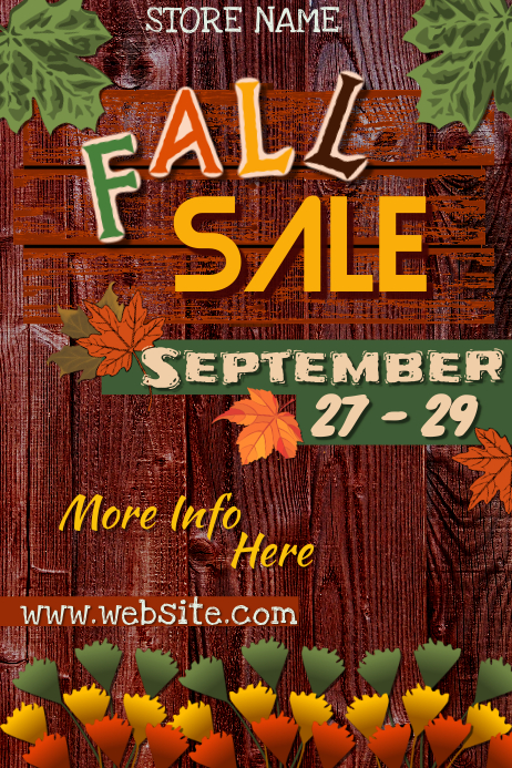 Fall Sale Poster