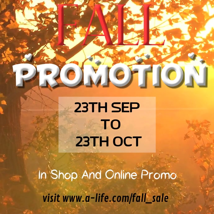 Fall Sale Video Template