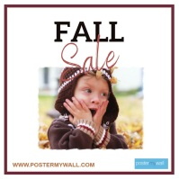 Fall Sale with Cute Kid