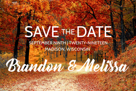 Fall Save the Date - Wedding