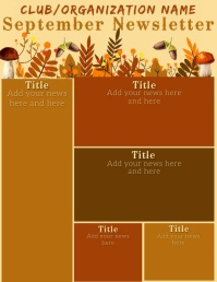 Fall Theme Video Newsletter Iflaya (Incwadi ye-US) template