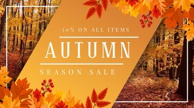 Fall Themed Sale Display Video Template