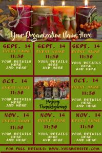 Fall Upcoming Events Calendar