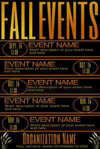 Fall Upcoming Events