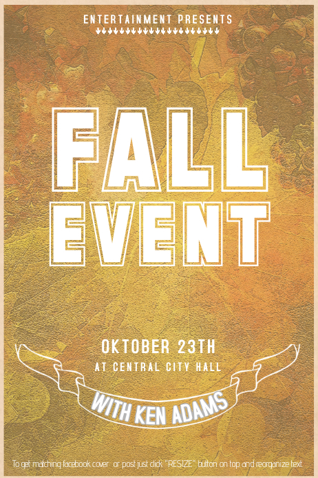 Fall vintage flyer template