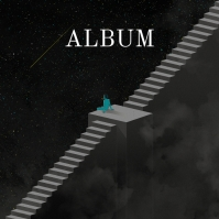 Falling star Surreal Album Song Cover Art Portada de Álbum template