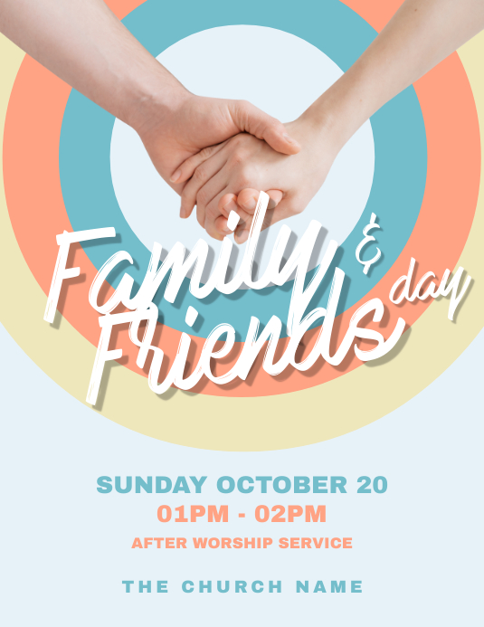 Family & Friends Day Church Flyer