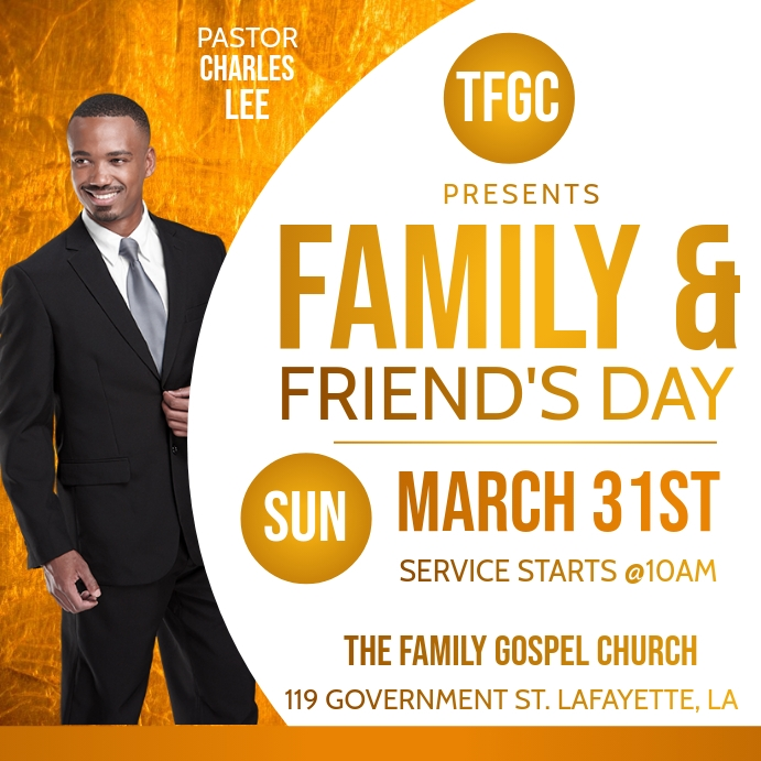 FAMILY & FRIENDS DAY CHURCH FLYER Template
