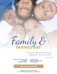 Family & Friends Day Church Flyer Template Folheto (US Letter)
