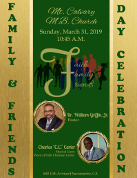 Family & Friends Day Flyer (US Letter) template