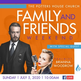 Family & Friends Weekend Instagram Post template